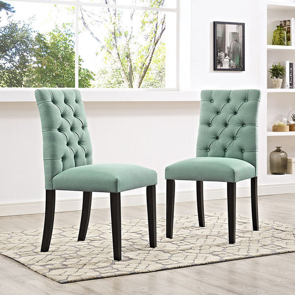 DUCHESS FABRIC DINING CHAIR IN MANY COLOR OPTIONS