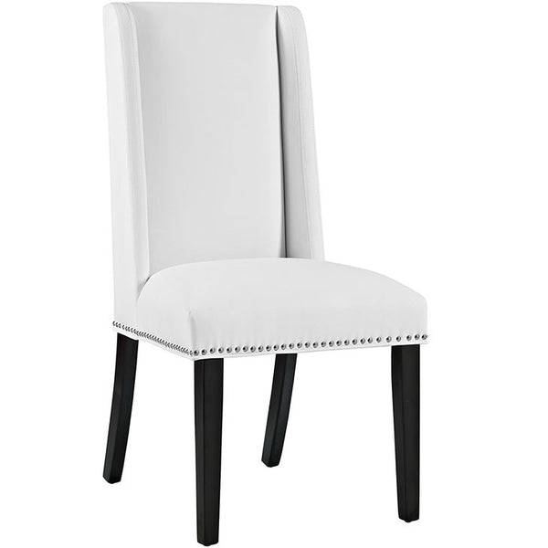 BARON VINYL DINING CHAIR IN BLACK OR WHITE