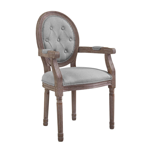 Arise Vintage French Dining Armchair In Beige or Light Grey