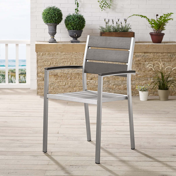 Shore Outdoor Patio Aluminum Dining Armchair