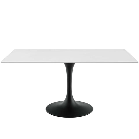 "Lippa 60"" Rectangle Wood Dining Table IN Black Base"