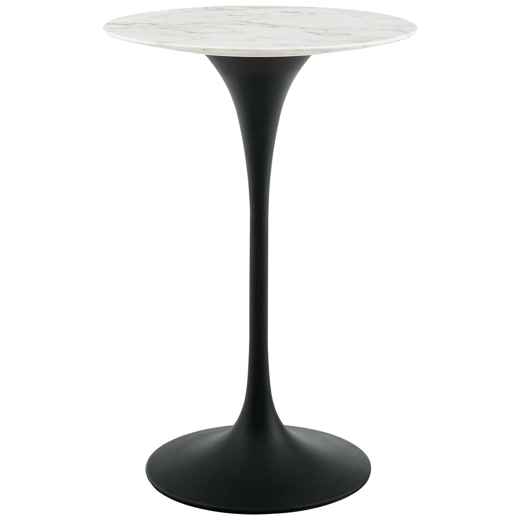 "Lippa 28"" Round Artificial Marble Bar Table"