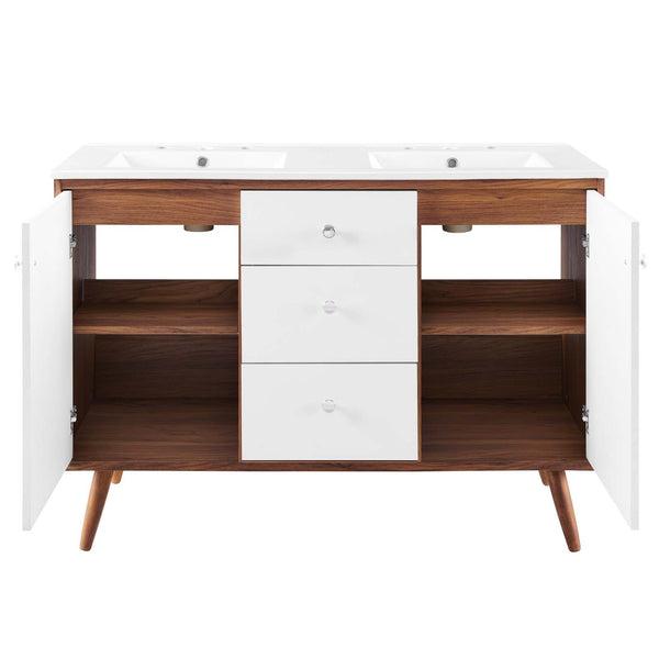 "Transmit 48"" Double Sink Bathroom Vanity"