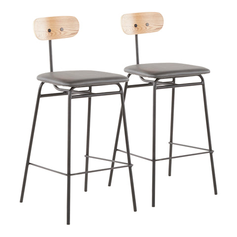 Elio Contemporary Counter Stool in MANY COLOR OPTIONS- Set of 2