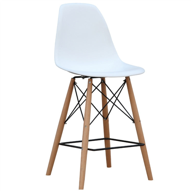 Molded Plastic Counter Stool or Bar Stool in White