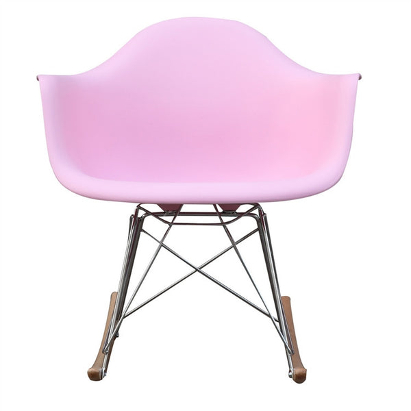 Plastic Molded Eiffel Rocking Arm Chair MANY COLORS