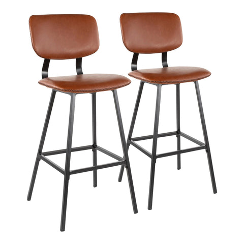 Foundry Contemporary Barstool in MANY COLOR COMBOS - Set of 2