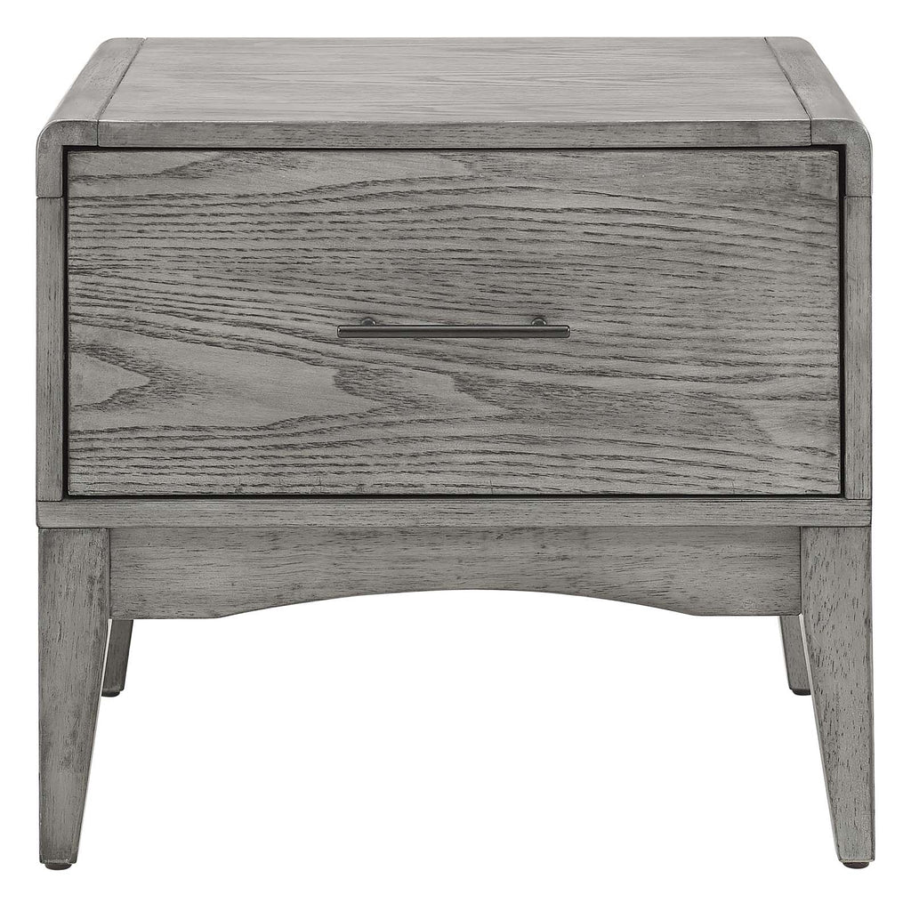 Georgia Wood Nightstand in Gray