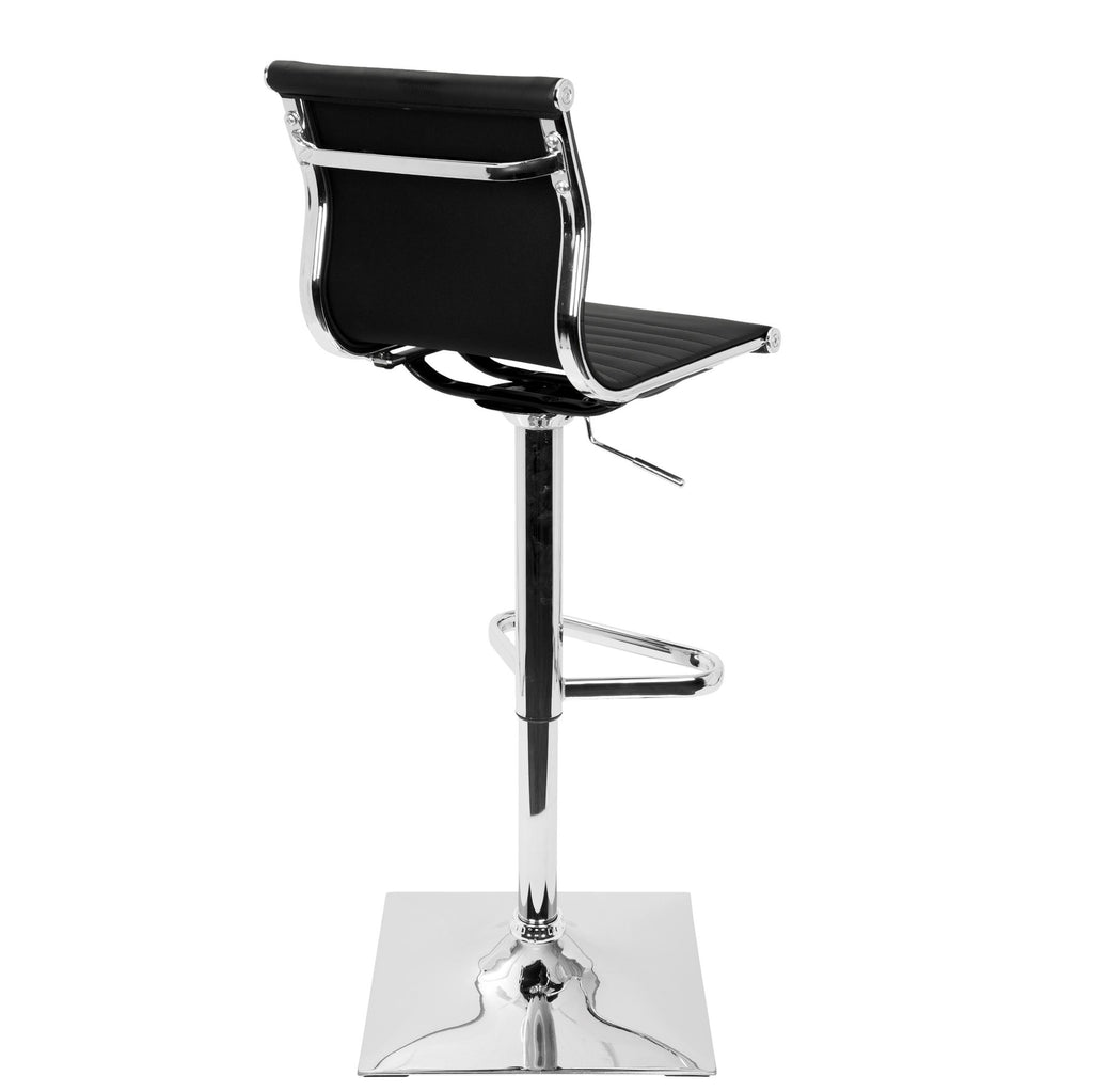 Pleasing Masters Contemporary Adjustable Barstool With Swivel In Black Grey Red White Faux Leather Gmtry Best Dining Table And Chair Ideas Images Gmtryco