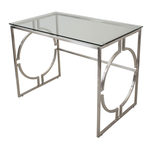 Dynasty Chrome / Glass Desk