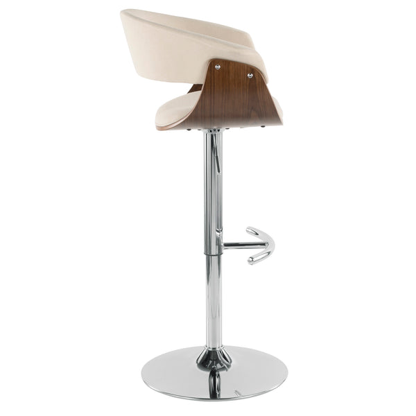 Vintage Mod Mid-Century Modern Adjustable Barstool with Swivel in Walnut and in MANY COLORS
