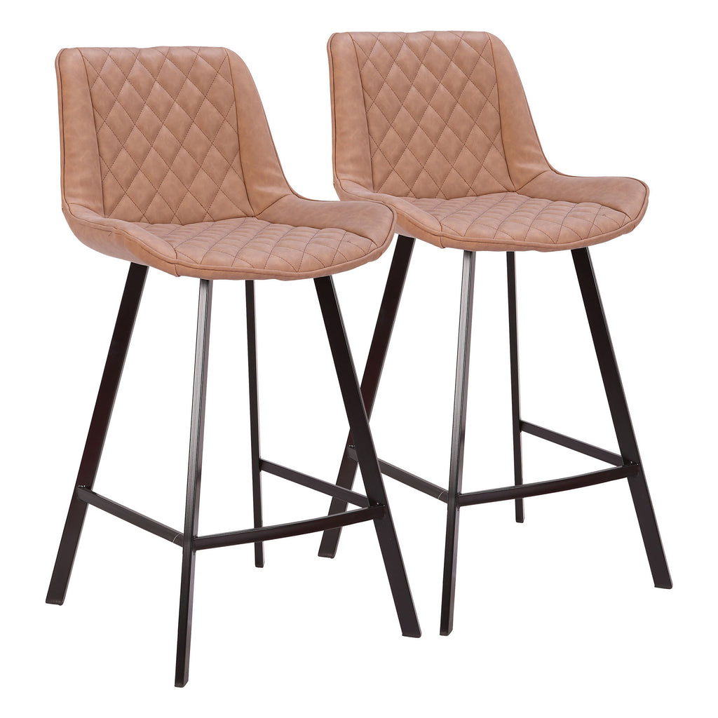 Wayne Industrial 26 Counter Stool In Black And Brown Grey Set Of