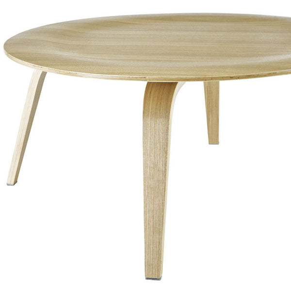 Molded Plywood Coffee Table in Black, Natural, Walnut or Wenge