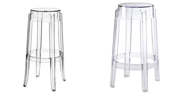 COUNTER STOOL or BAR STOOL PHILIPPE STARK GHOST STYLE CLEAR ACRYLIC