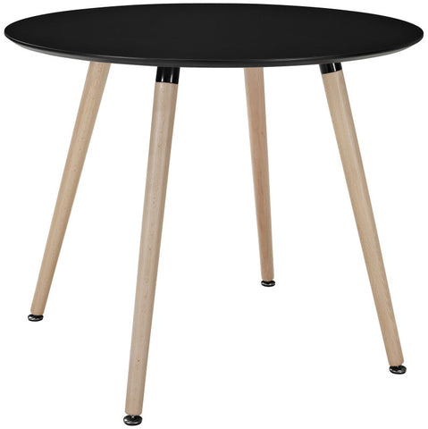 "Nelson Style 36"" Round Dining Table in Black  or White Top"