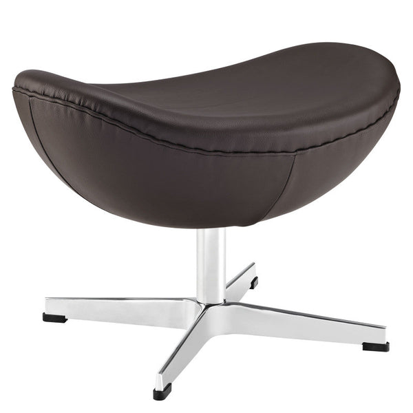Jacobsen Egg Shell Ottoman in Aniline Leather in MANY COLORS