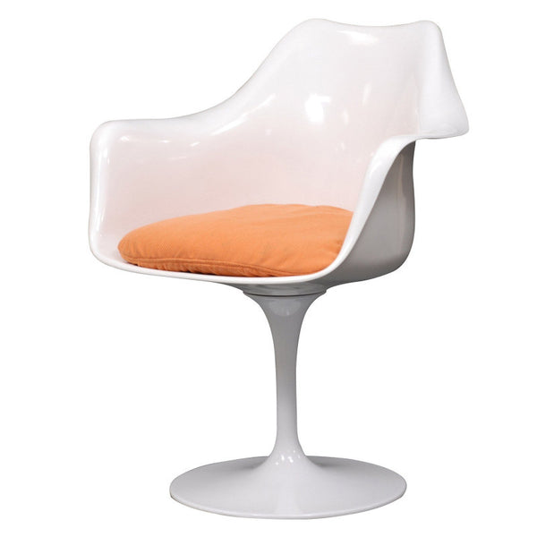 Eero Saarinen Tulip Syle White Swivel Arm Chair MANY COLORS