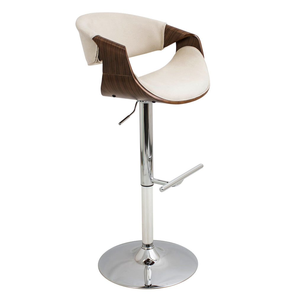 Curvo Adjustable Counter to Bar Stool Cream or Teal