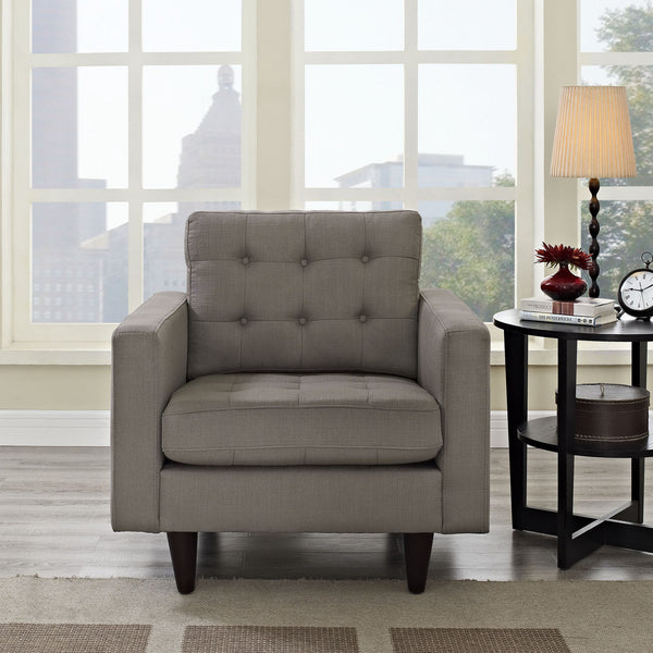 Empress  Arm Chair Linen Like Fabric MANY COLORS EEI-1013