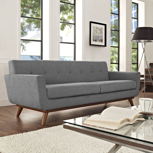 "Engage 90.5""L Sofa Linen Like Fabric MANY COLORS EEI-1180  Modway"