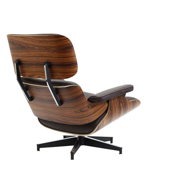 Charles Leather Lounge Chair and Ottoman Palisander, Walnut or Ebony Ash Eames.Style MANY OPTIONS