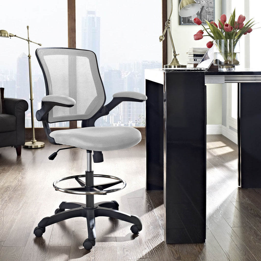 ... Vee Drafting Counter Bar Height Office Task Chair In MANY COLORS