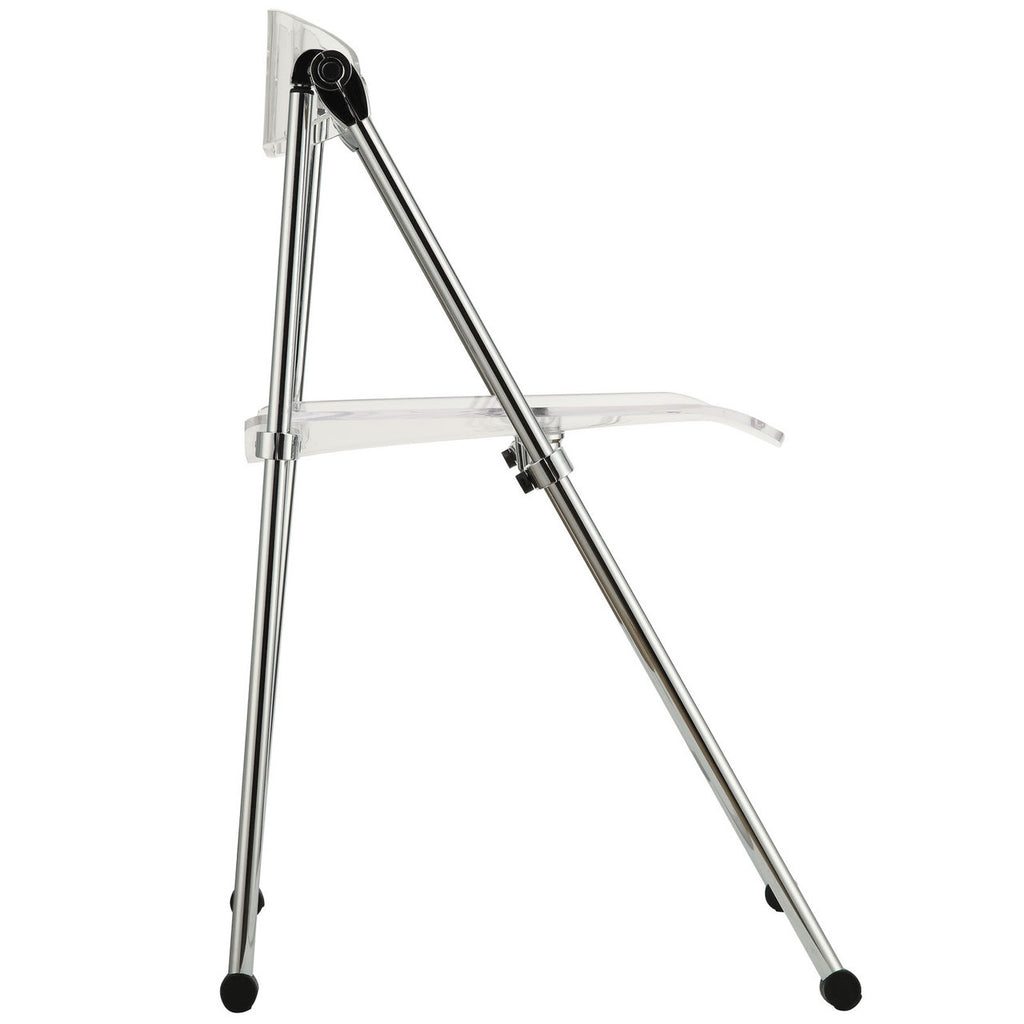 ... Telescoping Folding Chair In Clear