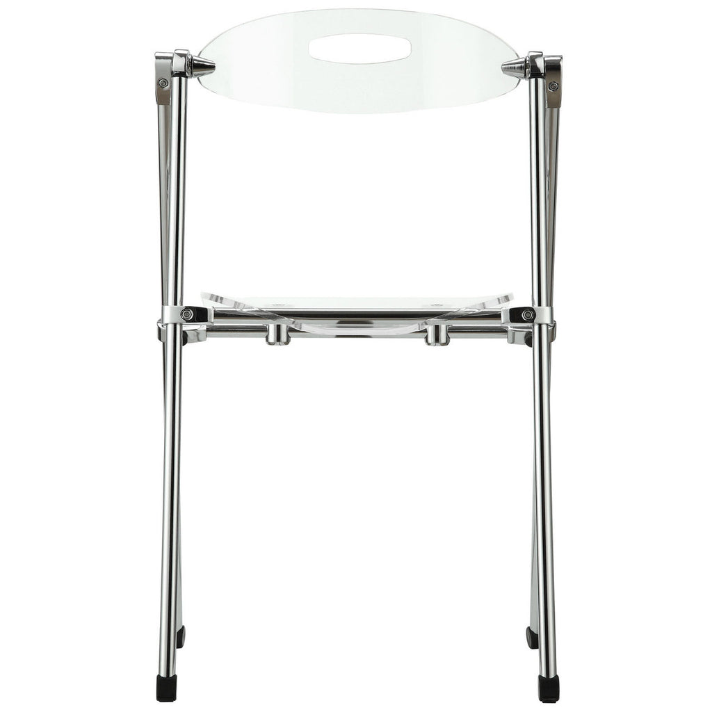 Telescoping Folding Chair In Clear; Telescoping Folding Chair In Clear ...