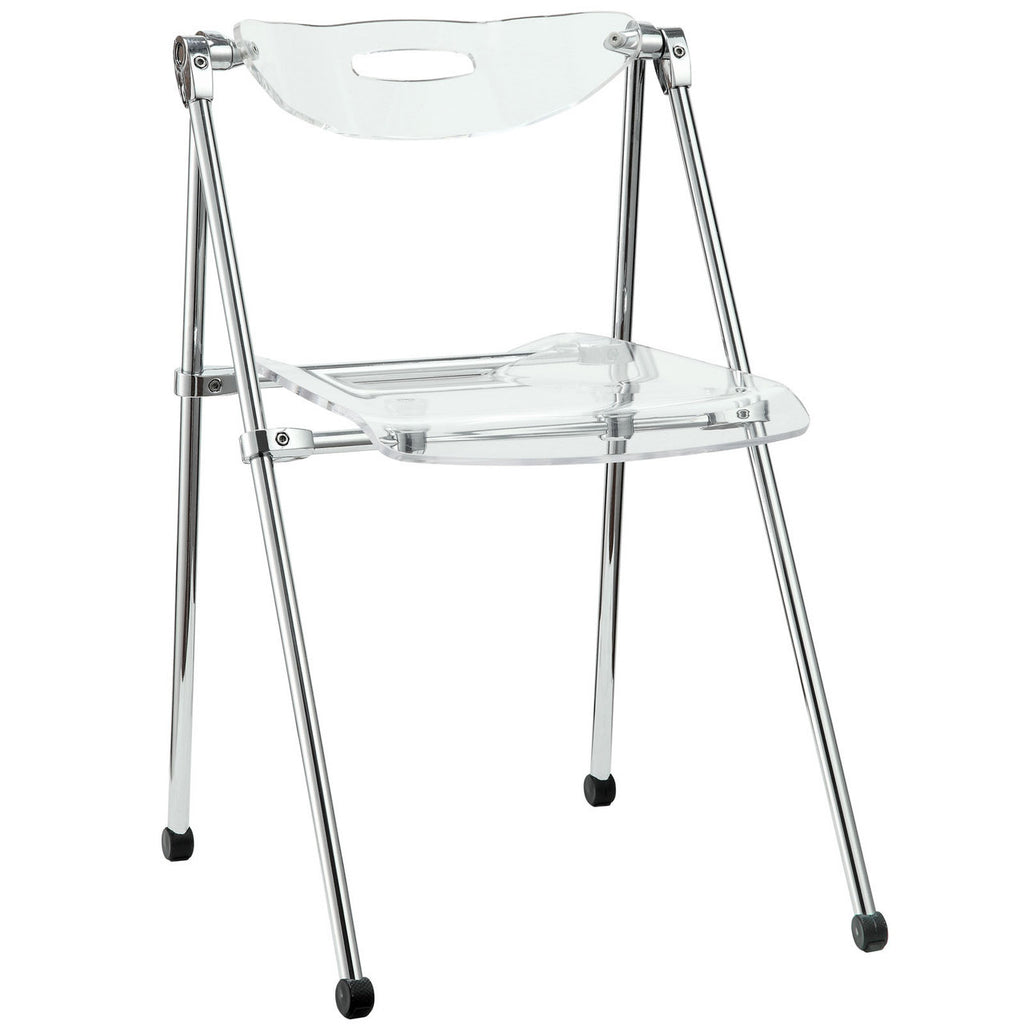 Telescoping Folding Chair in Clear