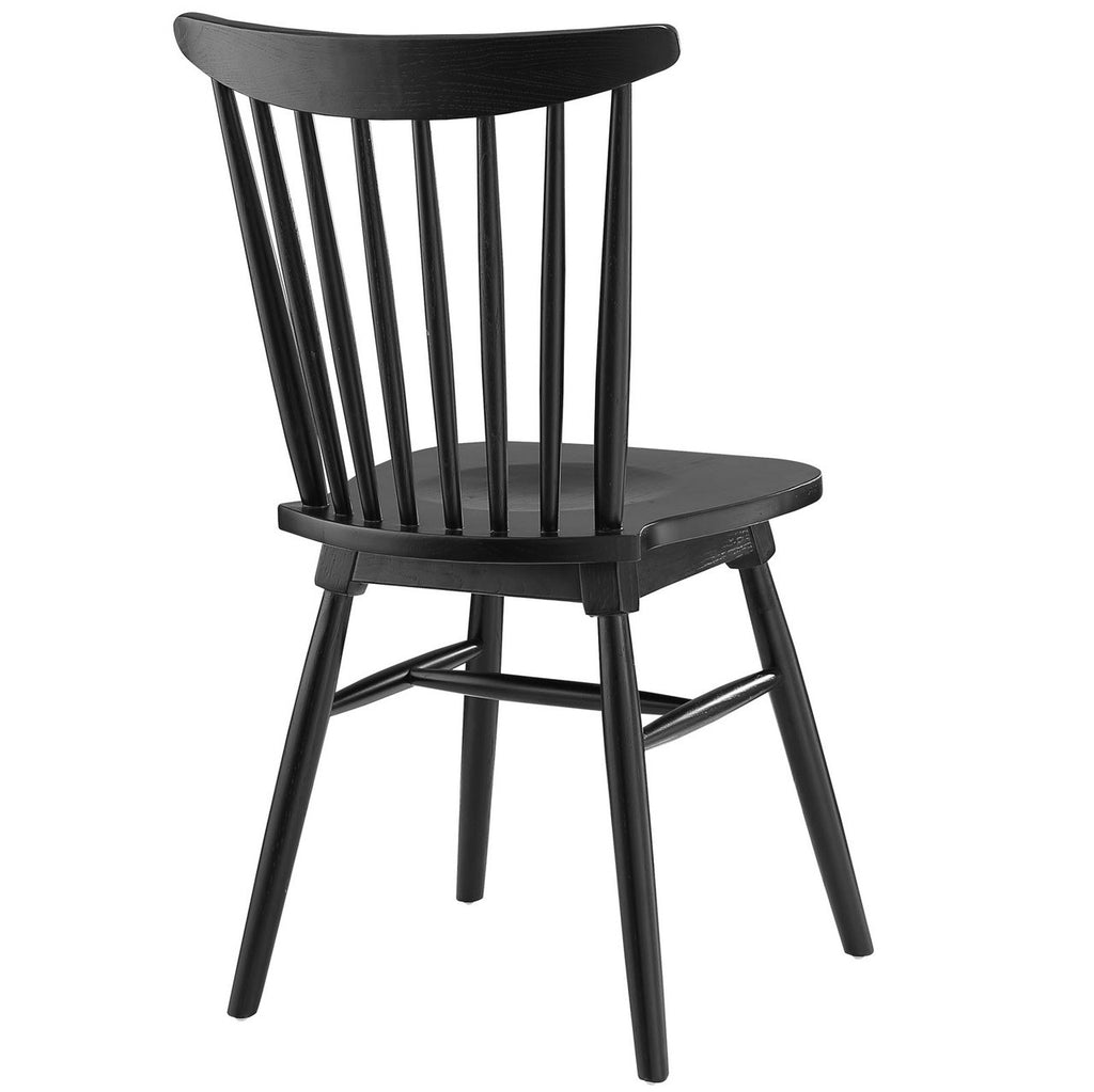 Black Wood Dining Chairs Straight Spindle Back Solid Wood Dining Chair Many Colors Mcm