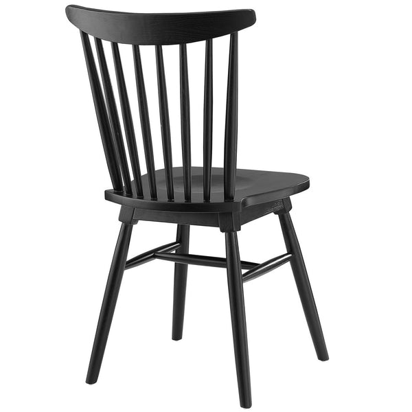 Straight Spindle Back Solid Wood Dining Chair MANY COLORS