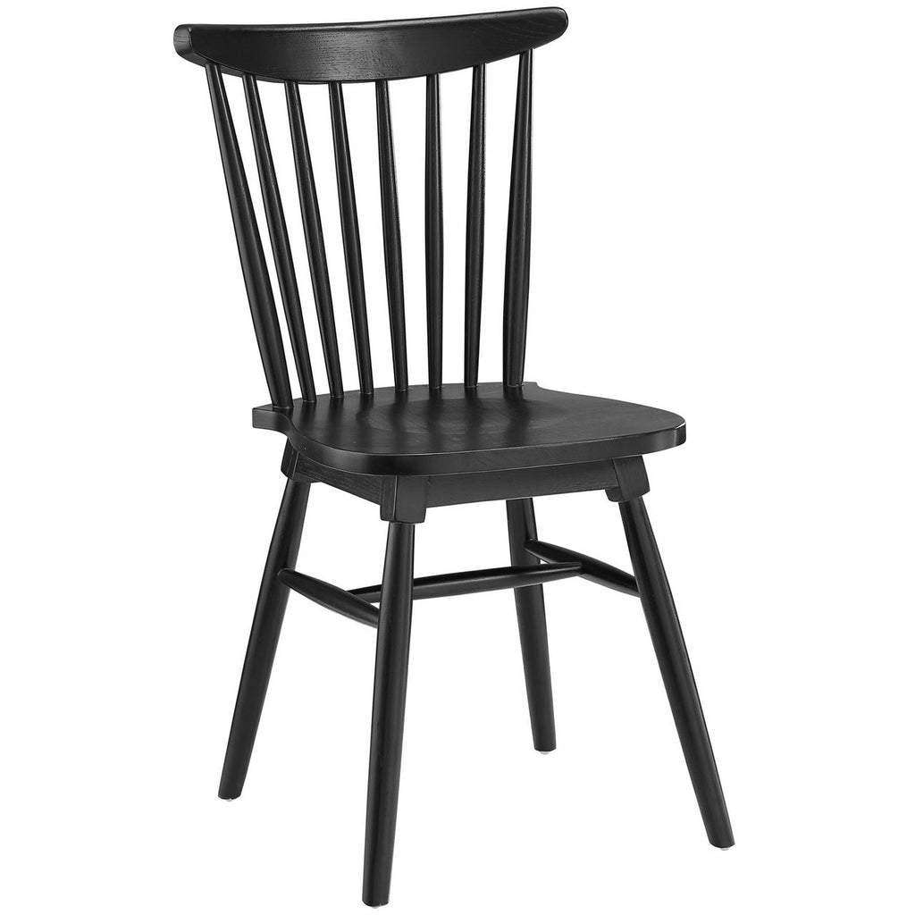 Great Straight Spindle Back Solid Wood Dining Chair MANY COLORS