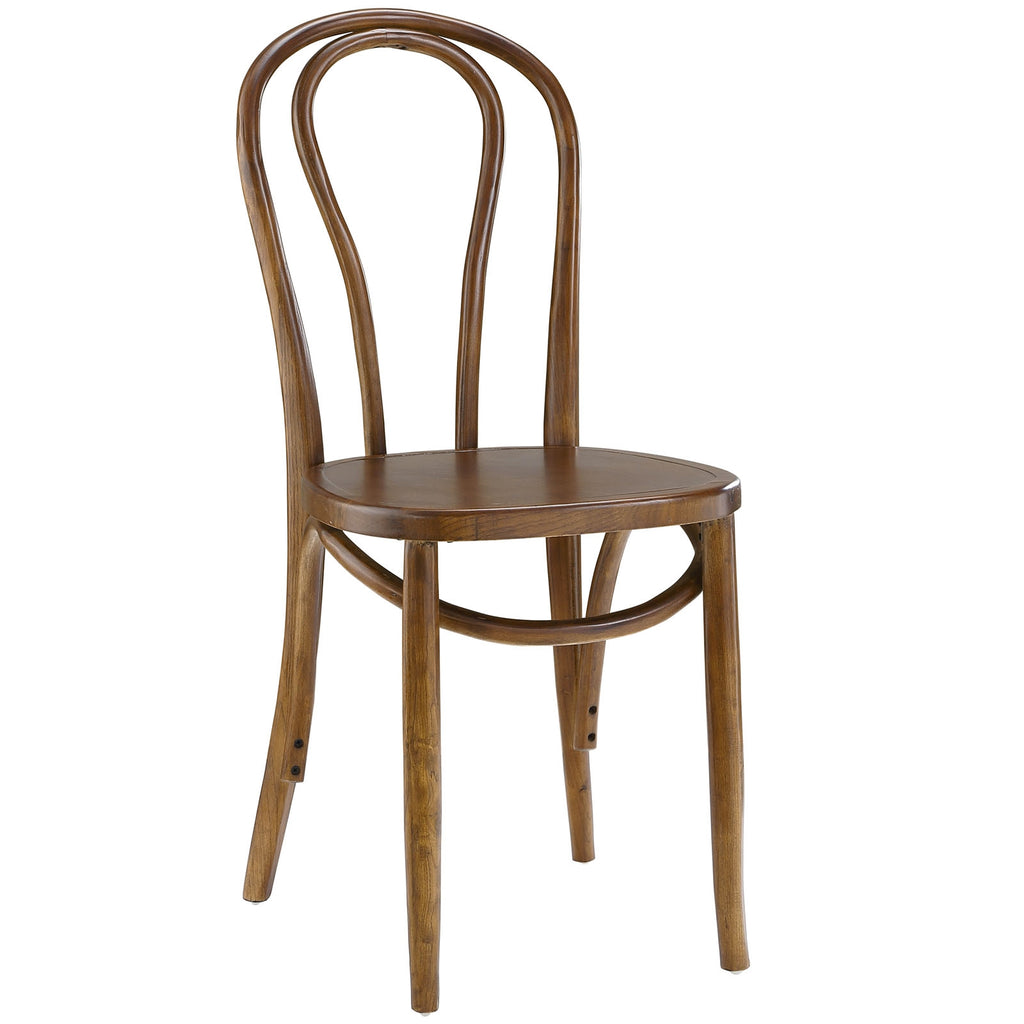 EON DINING SIDE CHAIR IN WALNUT or BLACK COLOR