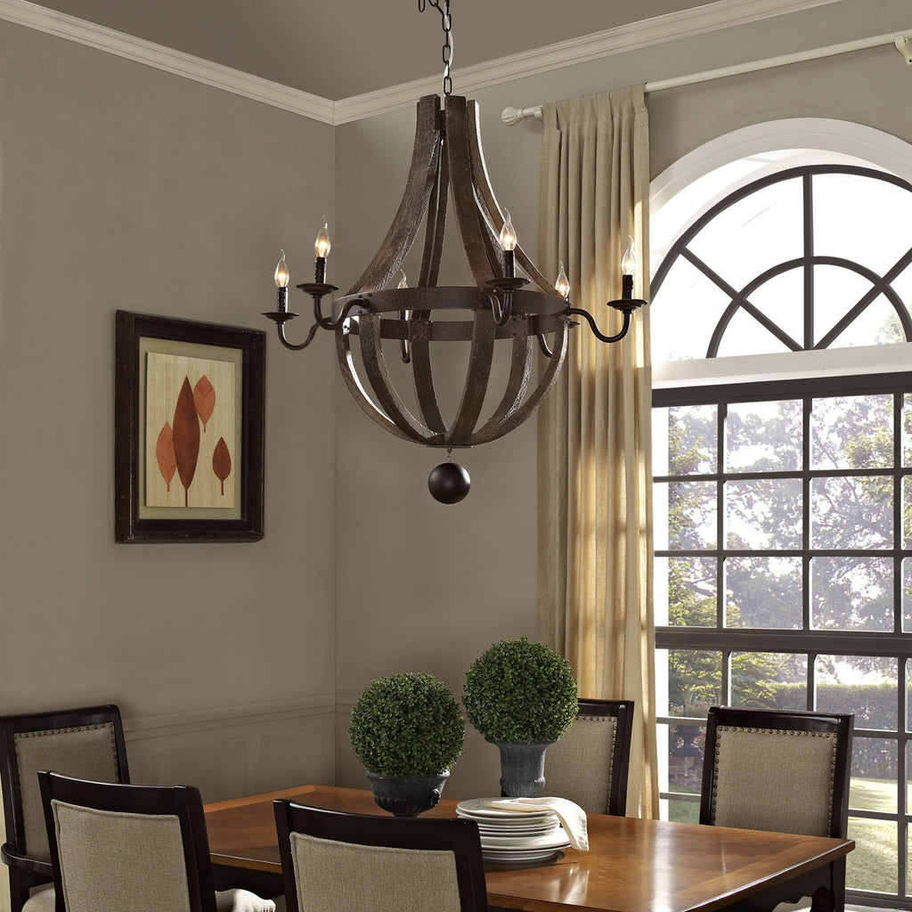Ballista Chandelier in Antique Brass