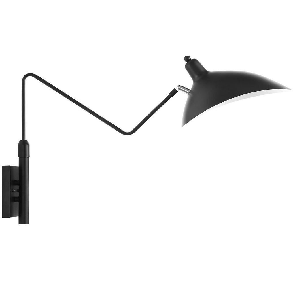 Mantis One Arm Wall Sconce Lamp Serge Mouille Style Black