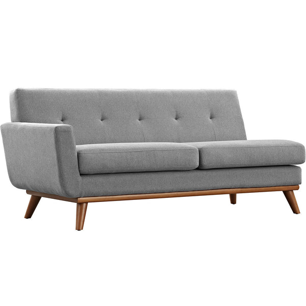 Engage Left Arm Loveseat Linen Like Fabric MANY COLORS EEI-1795  Modway