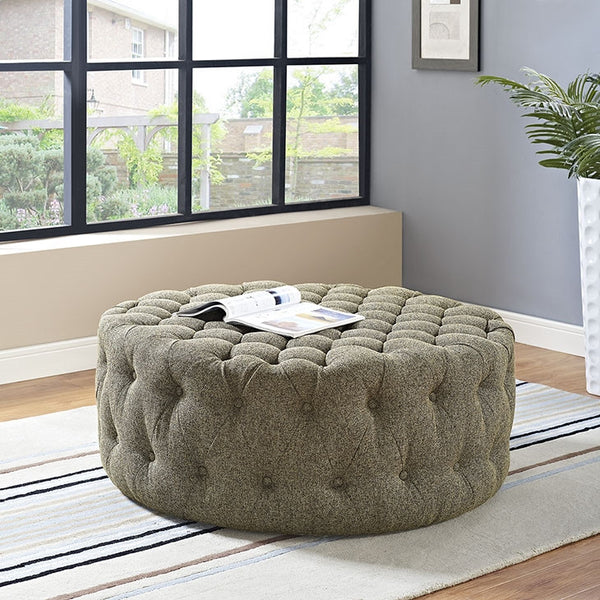 AMOUR FABRIC OTTOMAN IN MANY COLOR OPTIONS