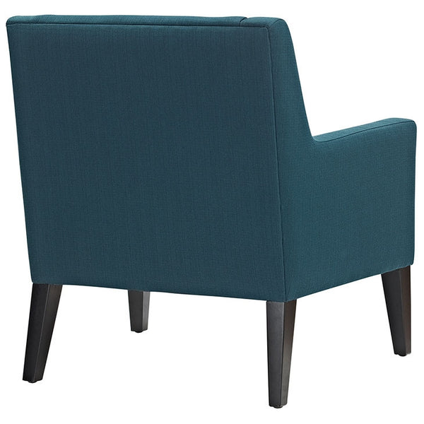 EARNEST FABRIC ARMCHAIR IN BLUE/GRAY