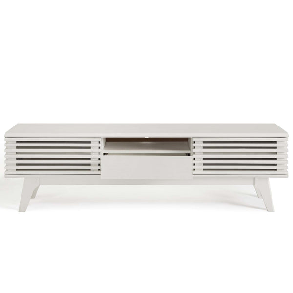"Render 59"" TV STand IN Charcoal, Walnut, Walnut & White, White"