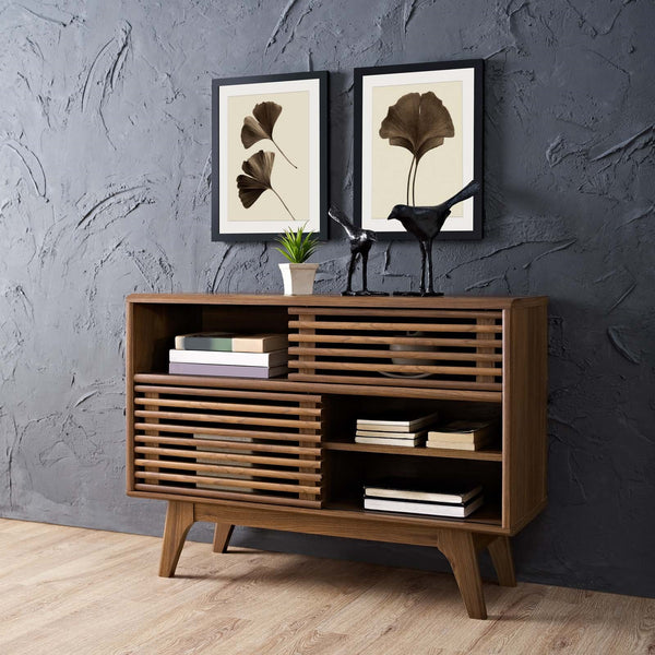 RENDER DISPLAY STAND IN WALNUT