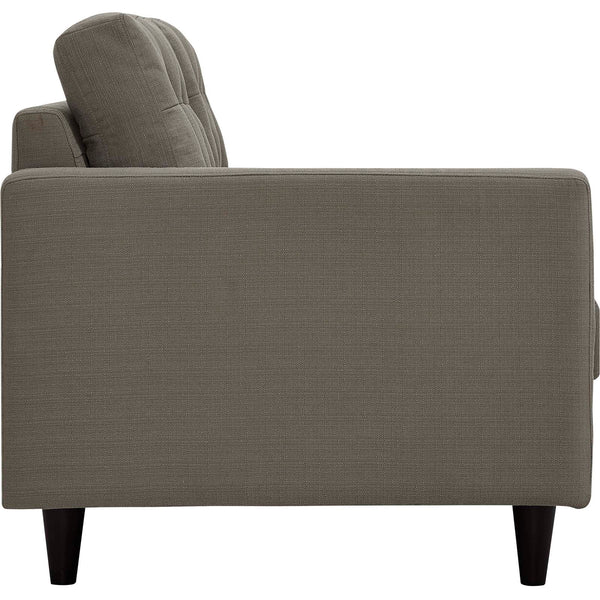 EMPRESS LEFT-ARM FACING UPHOLSTERED FABRIC LOVESEAT IN MANY COLOR OPTIONS