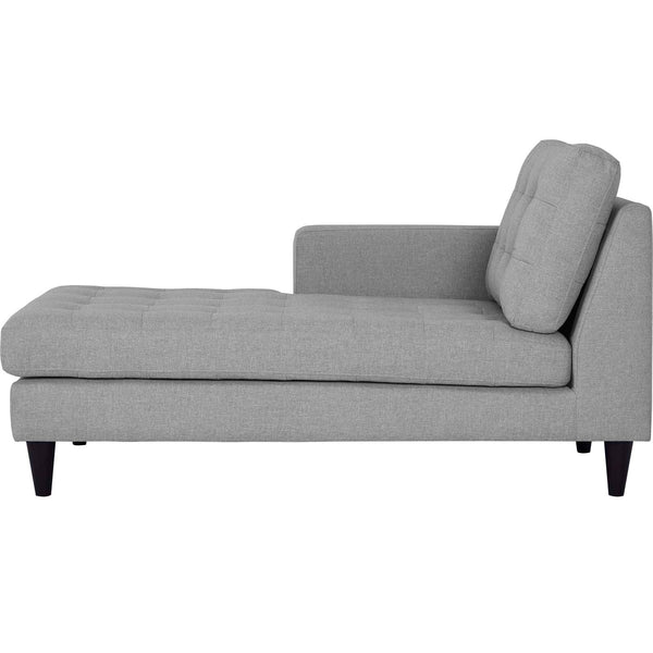 EMPRESS LEFT-ARM UPHOLSTERED FABRIC CHAISE IN MANY COLOR OPTIONS