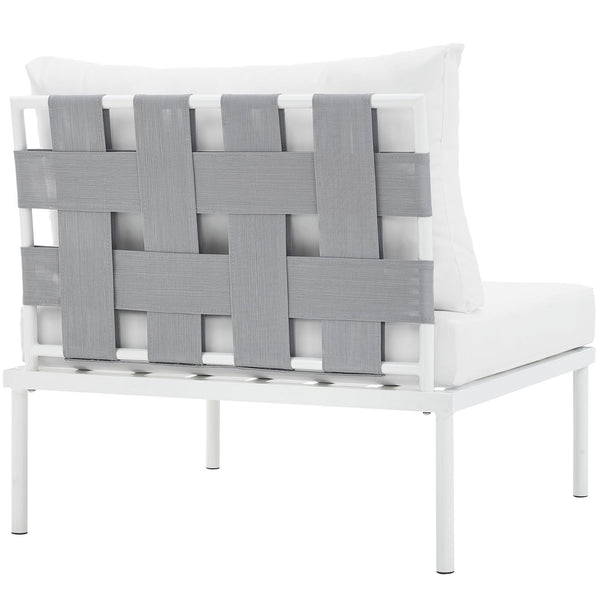 Outdoor Patio Aluminum Chair In White Gray, Beige, Navy, White