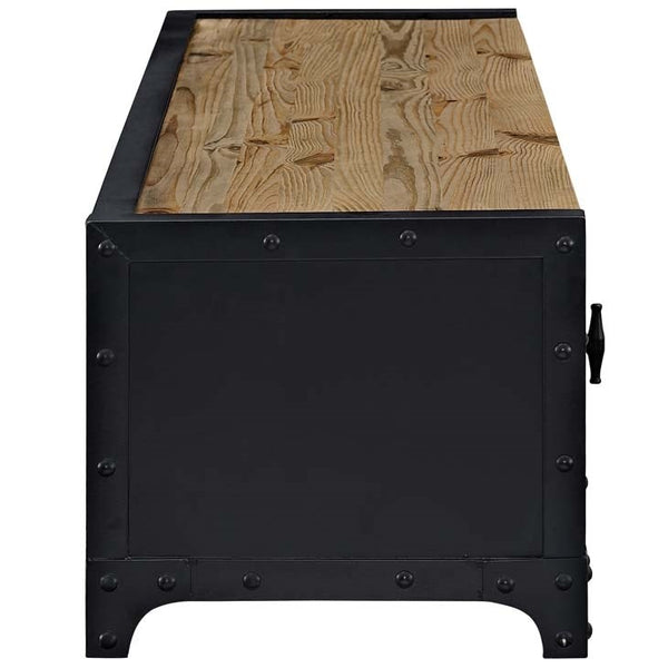 "DUNGEON 63""L TV STAND IN BLACK"