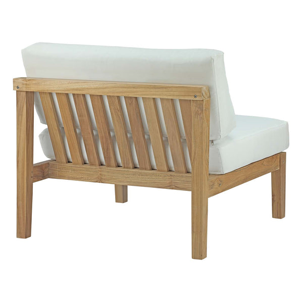 BAYPORT OUTDOOR PATIO TEAK ARMLESS IN NATURAL WHITE