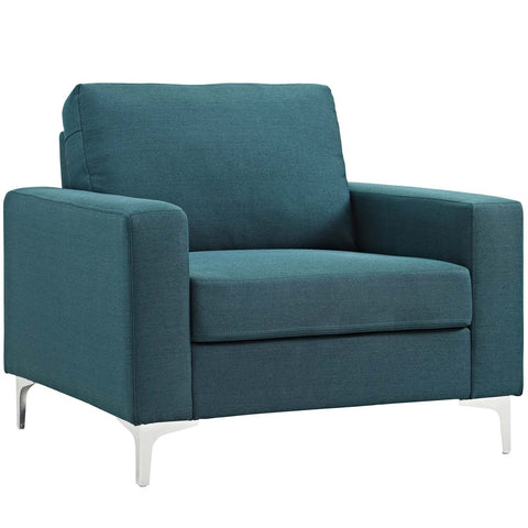 ALLURE UPHOLSTERED ARMCHAIR IN BLUE or GRAY