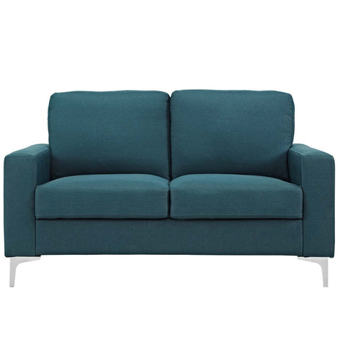 "ALLURE UPHOLSTERED SOFA-LOVESEAT IN BLUE or GRAY 57""W"