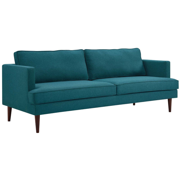 Agile Upholstered Fabric Sofa IN Gray, Azure, Teal, White