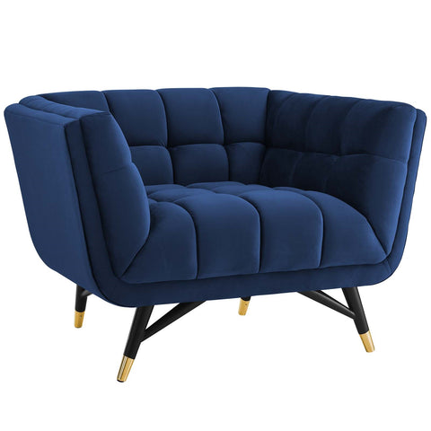 ADEPT UPHOLSTERED VELVET ARMCHAIR IN MANY COLORS