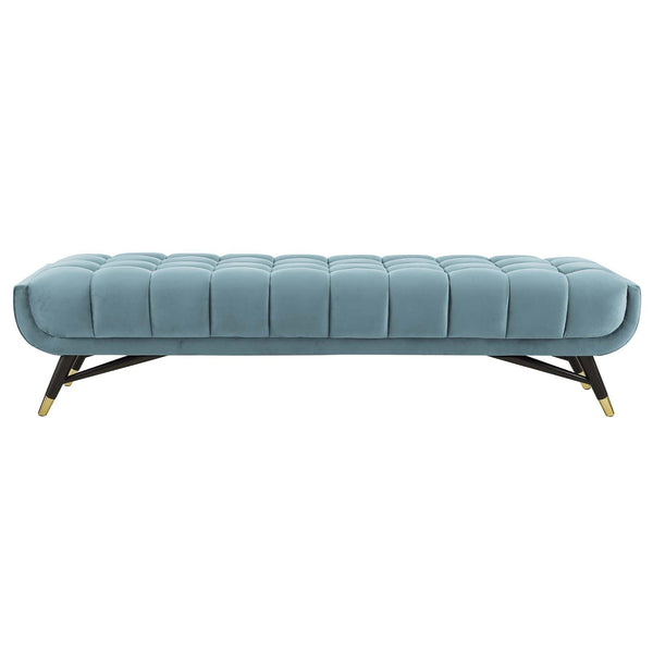 ADEPT UPHOLSTERED VELVET BENCH IN MANY COLORS